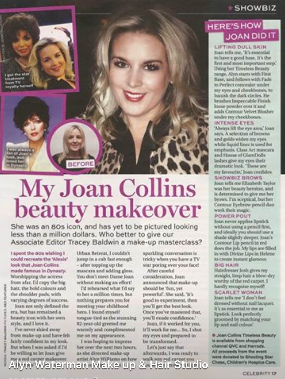 Makeup for Joan Collins Beauty Makeover for Best Magazine