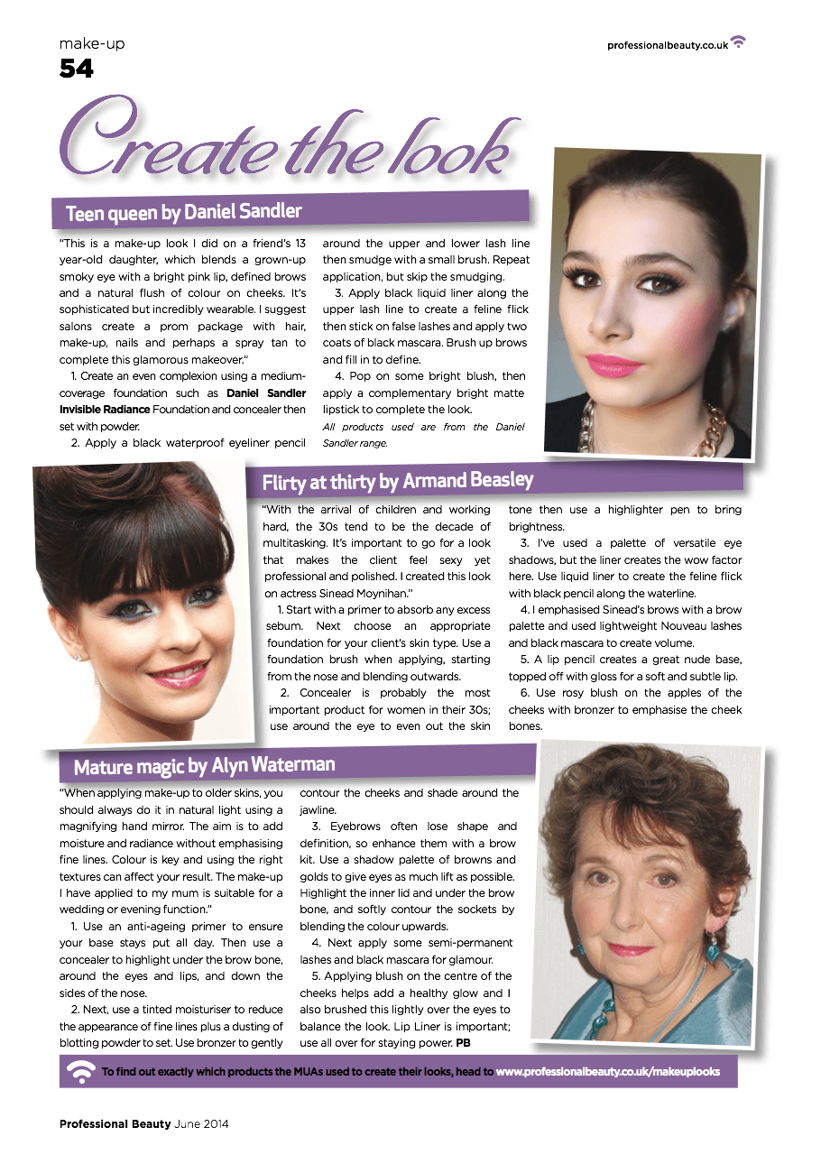 Professional Beauty Magazine feature for Mature Beauty
