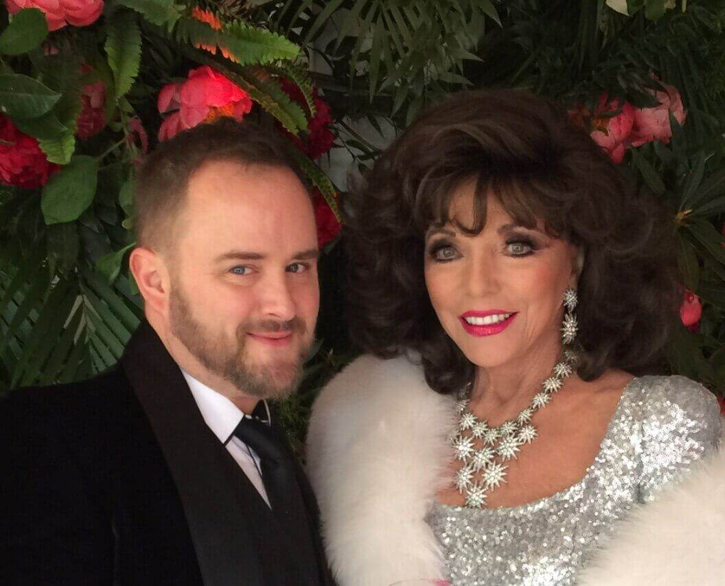 Joan Collins with Alyn