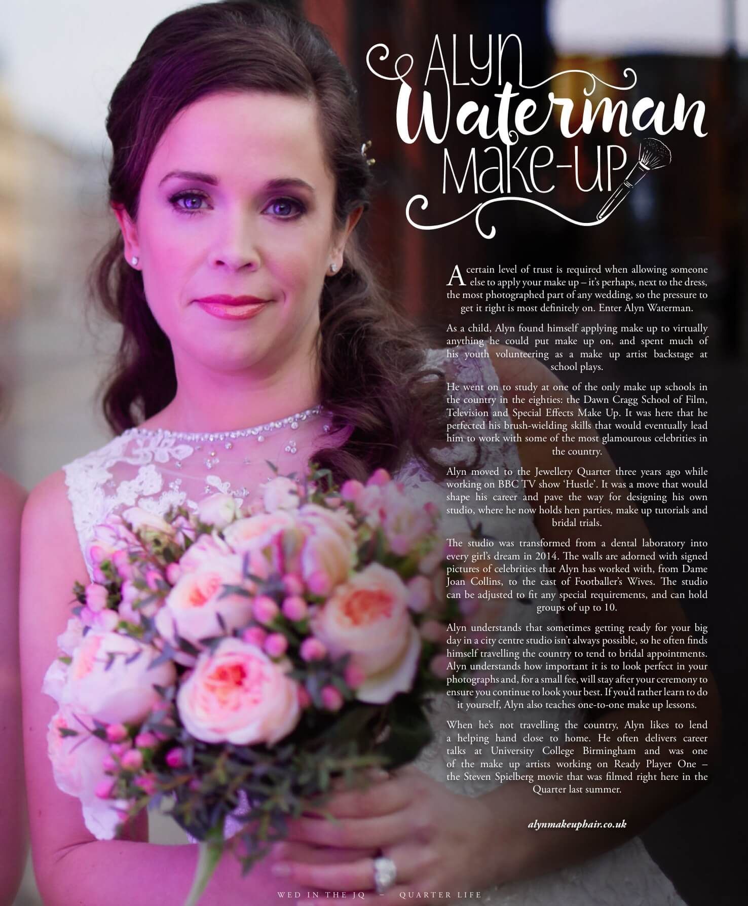 Alyn Waterman Makeup Artist Feature in Quarter Magazine